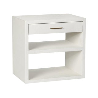 Interlude Home Livia Bedside Chest - White For Sale