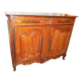 19th Century Louis XV Style Walnut Buffet For Sale