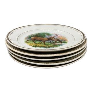 1940s Dresden White Granite Plates - Set of 6 For Sale