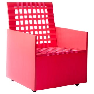 Pink Mary Heilmann Clubchair 86 by Mary Heillmann For Sale