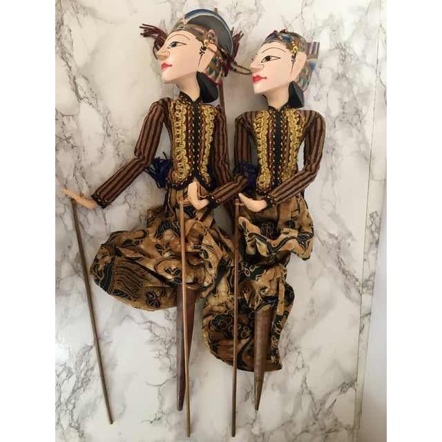 Indonesian Rod Puppets - a Pair For Sale In Washington DC - Image 6 of 7