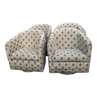 Swivel Platform Armchairs - Set of 4