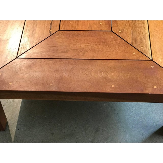 Brown Rob Edley Welborn Prototype Square Coffee Table in Spanish Cedar For Sale - Image 8 of 11