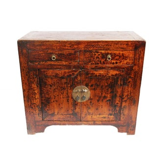 Ming Distressed Side Cabinet For Sale