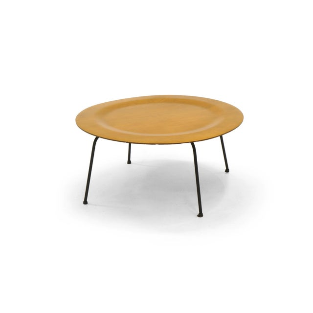 This is an original Charles and Ray Eames CTM made by Herman Miller. Ash top with black enameled steel legs and the...