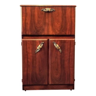 Mid Century Art Deco / Hollywood Regency Cocktail Cabinet / Dry Bar For Sale