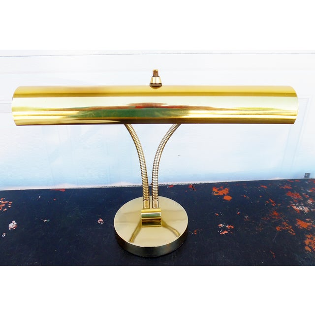 1950s Italian Modernist Brass Desk Lamp - Image 4 of 11