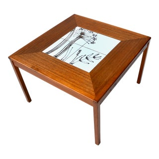 Danish Mid Century Teak Tile Table by Mobelfabrikken Toften For Sale