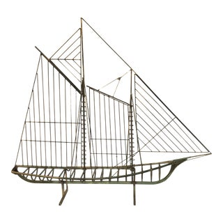 Vintage Curtis Jere Sailboat For Sale