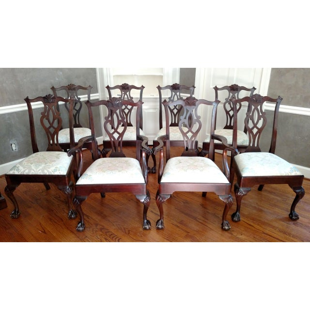 Stickley Mahogany Dining Chair Set - 8 - Image 2 of 9
