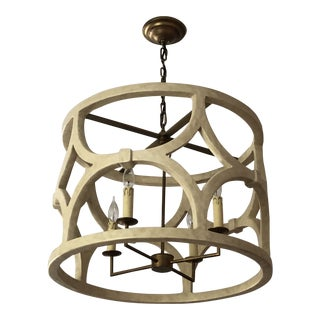 Mr Brown Wolfgang Chandelier in Antique White Gesso For Sale