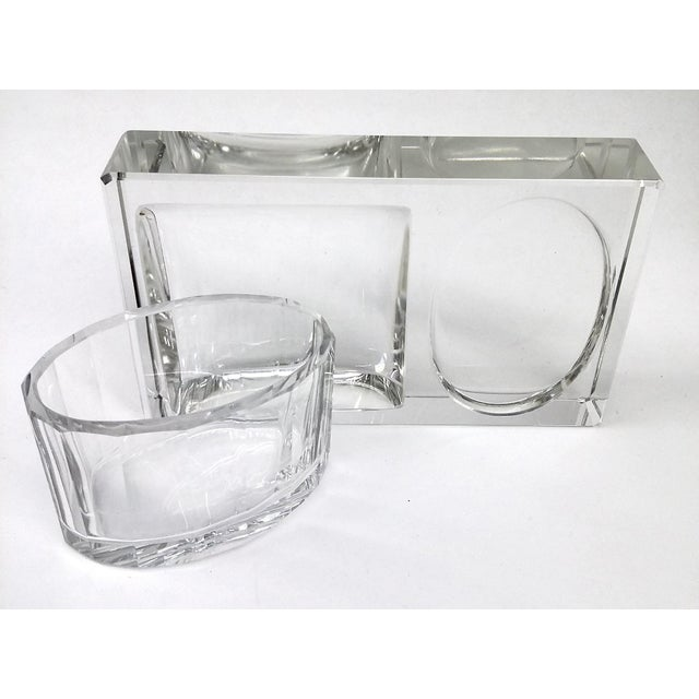 Crystal Art Deco Cigarette Ashtray - 2 Pieces - Image 8 of 11