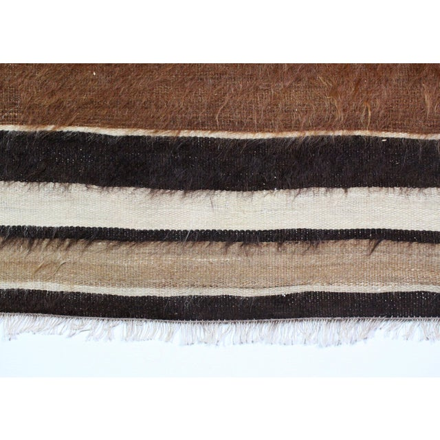Mid 20th Century Nomadic Yoruk Tribe Hand-Woven Angora Blanket For Sale - Image 5 of 6
