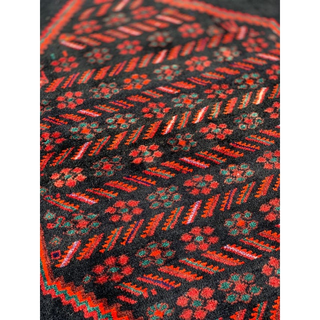 1960s Vintage Persian Bijar Runner Rug - 4′3″ × 11′4″ For Sale - Image 12 of 13