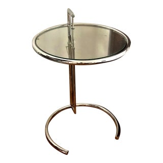 Eileen Gray Reproduction Chrome Adjustable Side Table