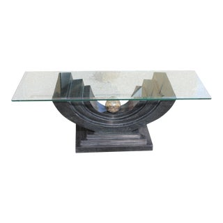 1960s Maitland Smith Art Deco Tessellated Stone Coffee Table For Sale
