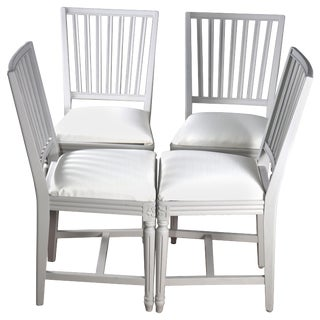 Late 19th Century Swedish Gustavian Dining Chairs- Set of 4 For Sale