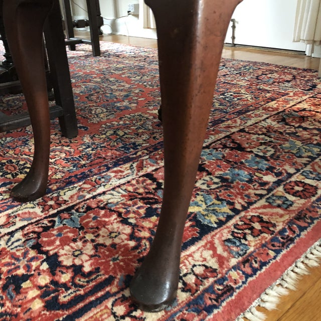 18th Century English Walnut or Mahogany George II Ball & Claw Side Chairs- A Pair For Sale - Image 10 of 13