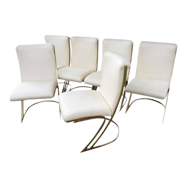 Pierre Cardin Vintage Brass Dining Chairs - Set of 6 For Sale