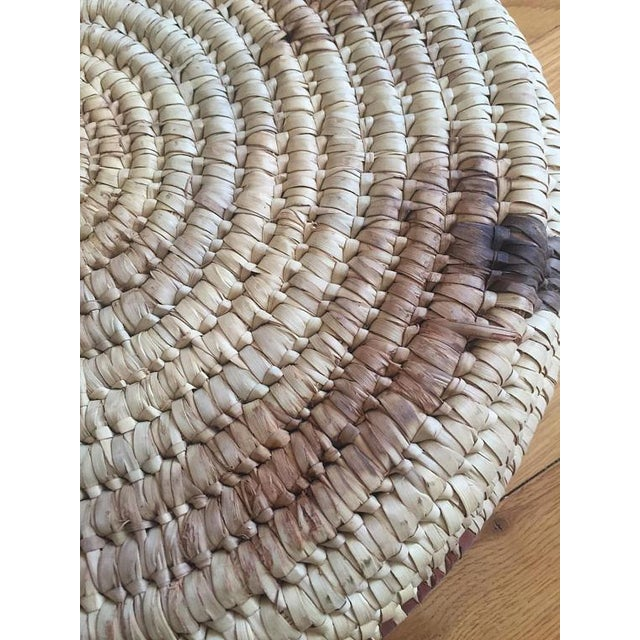Vintage Native American Tohono Woven Basket For Sale - Image 5 of 11