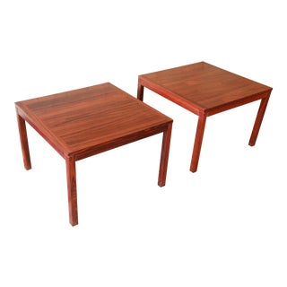 Henning Kjærnulf for Vejle Stole Danish Modern Rosewood Side Tables - a Pair For Sale