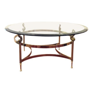 Labarge Koi Fish Chinoiserie Style Brass Coffee Table For Sale