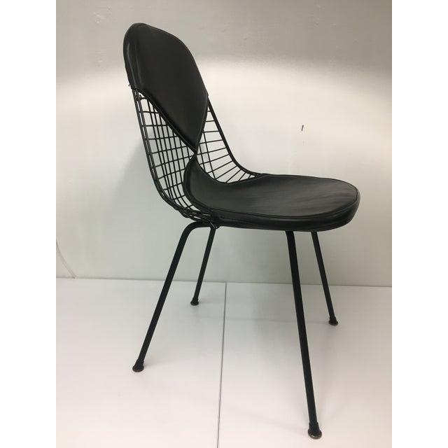 Mid-Century Modern Vintage Black on Black D K R Bikini Chair by Charles Eames for Herman Miller For Sale - Image 3 of 12