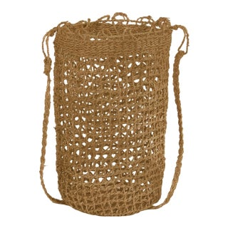 Axel Woven Basket in Brown - A Pair For Sale