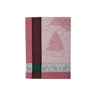 French Christmas Dishtowel For Sale