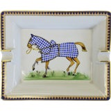 Image of Hermes Tattersall Equestrian Ashtray For Sale