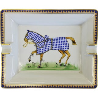 Hermes Tattersall Equestrian Ashtray For Sale