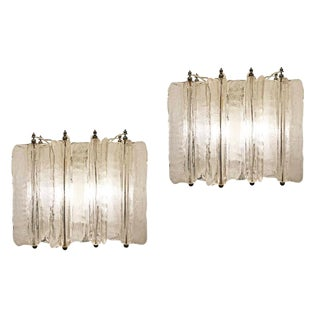 Pair of Murano Glass Sconces by Lumenform For Sale