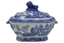 Image of English Traditional Serving Dishes and Pieces