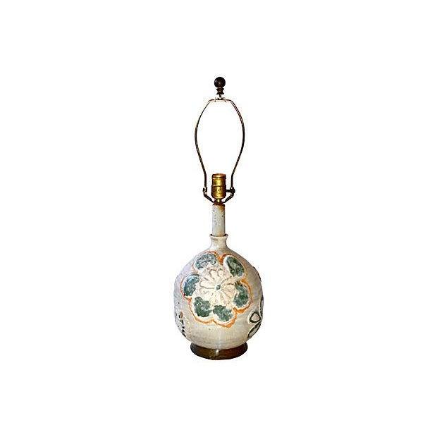 1960s Studio Art Ceramic Lamp - Image 6 of 6