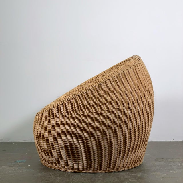 Isamu Kenmochi Rattan Ball Chair Attributed to Isamu Kenmochi for Yamakawa Rattan For Sale - Image 4 of 5