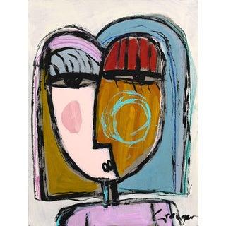 """Lesley Grainger """"Rosé for Me"""" Original Face Painting For Sale"""