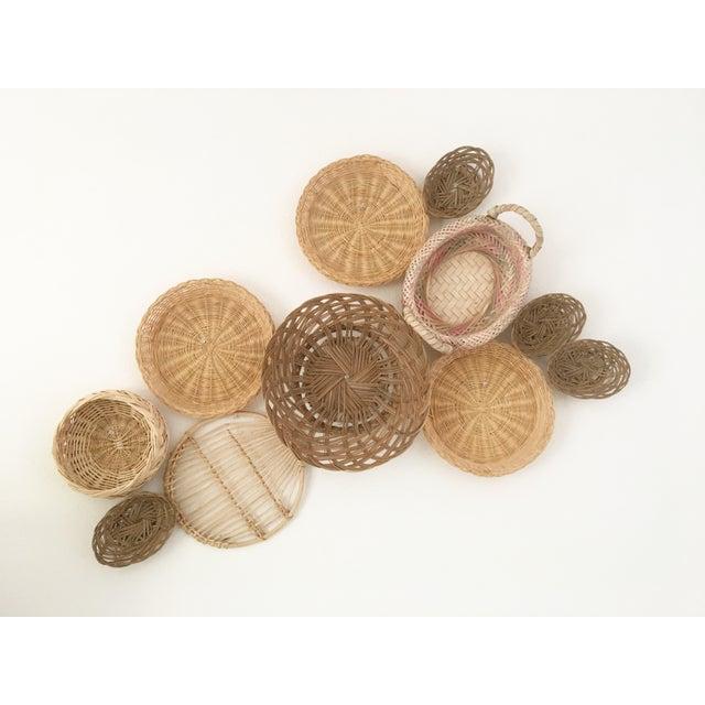 Boho Chic Wall Hanging Baskets - Set of 11 - Image 2 of 3