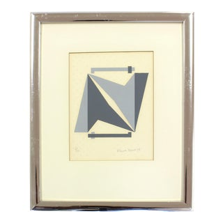 Silver Framed Abstract Geo Print