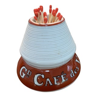 """Vintage Match Strike """"Café Des Viticulteurs Depuis 1897"""" For Sale"""