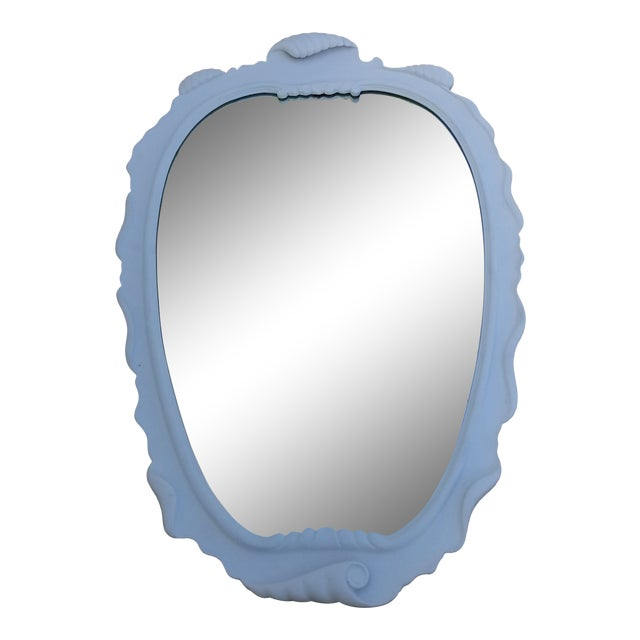 1950s Vintage Italian Dorothy Draper Style Decorative Wall Mirror For Sale