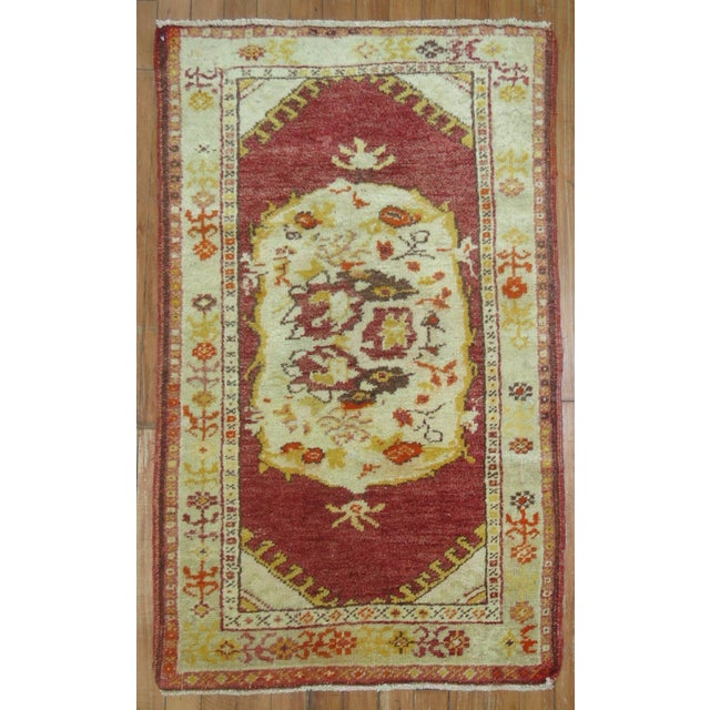 Vintage Turkish Oushak Rug - 2′2″ × 3′11″ - Image 2 of 3