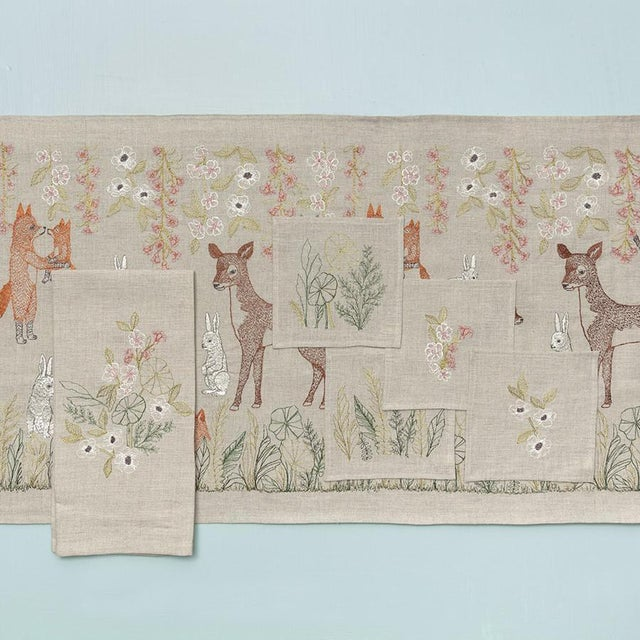 Contemporary Meadow Blossoms Tea Towel For Sale - Image 3 of 5