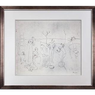 """1970s Vintage Pablo Picasso """"Les Saltimbanques"""" Lithograph Print For Sale"""