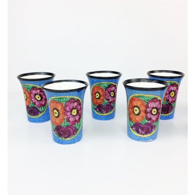 Czech Black Bird Pottery Pitcher & Tumblers - Set of 7 - Image 4 of 11
