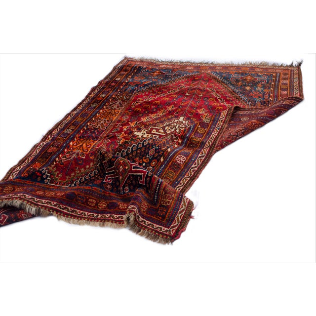 "Vintage Persian Shiraz Rug Aram - 5'1""x8'6"" - Image 5 of 5"