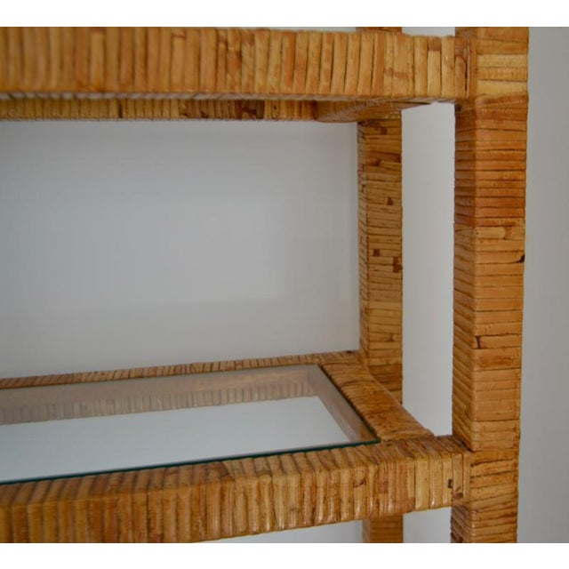 Mid-Century Modern Mid-Century Rattan Bookcase For Sale - Image 3 of 13