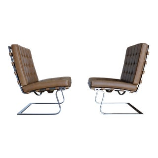 Pair of Mies Van Der Rohe Mr 70 Tugendhat Chairs