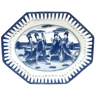 Blue and White Chinoiserie Platter Tray