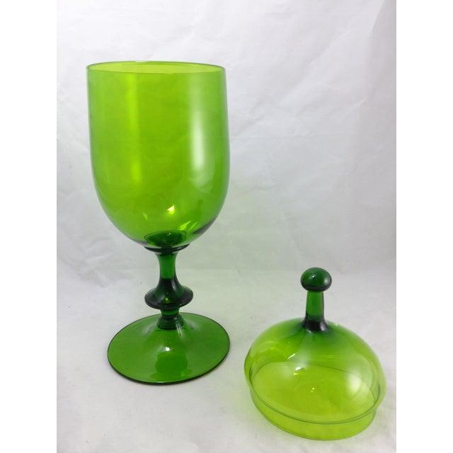 Empoli Italian Art Glass Apothecary Candy Jar - Image 4 of 11