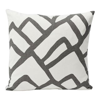 Schumacher Double-Sided Pillow in Zimba Print For Sale
